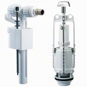 Chasse d'eau économique - Mécanisme à poussoir interrompable - Ensemble complet