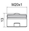 Mousseur aérateur M20 - Économie d'eau 5.7l / min - Embout robinet